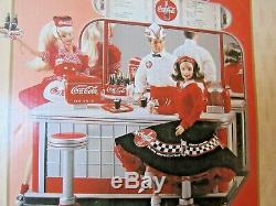 2000 NEW Barbie Coca-Cola Soda Fountain Play Set Limited Edition NIB