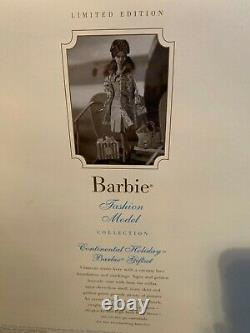 2001 Limited Ed. Continental Holiday Silkstone Barbie Giftset with COA FREE SHIP