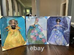 3 Painting Artist Barbie Limited Edition Series 1-3. Perfect Condition