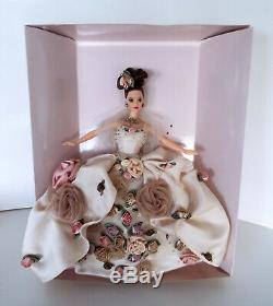 Antique Rose Barbie 1996 FAO Schwarz Limited Edition Floral Collection 15814
