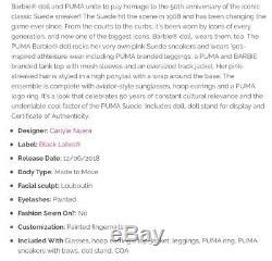 BARBIE DESIGNER PUMA DOLLS Signature SET Limited Edition 50th Anniversary AA