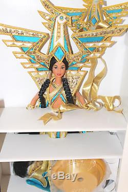 Barbie 2000 Fantasy Goddess of the Americas Bob Mackie Limited Edition Doll Plus