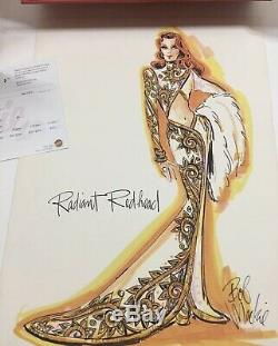 Barbie Bob Mackie Radiant Redhead Doll Limited Edition 2001 Collectable Org Box