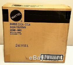 Barbie Coca Cola Soda Fountain (2000, Mattel, Limited Edition) NRF Shipper Box