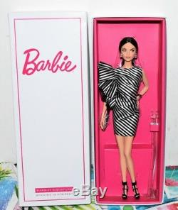 Barbie Convention Doll RFDC 2018 Brunette Striking In Stripes Limited Ed