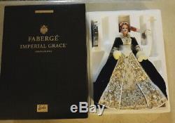 Barbie Fabergé Imperial Grace Porcelain Doll Limited Edition 2001