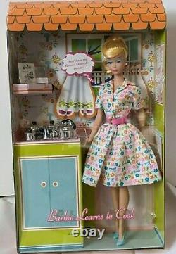 Barbie Learns to Cook Vintage repro Mattel doll Limited edition mod rare nrfb