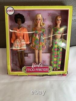 Barbie MOD FRIENDS 2018 Limited Edition 1968 Barbie, Christie and Stacey. K4A(N)