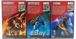 Barbie Signature Marvel X-MEN Limited Edition Set Mystique, Storm, Dark Phoenix