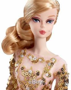 Blush & Gold Cocktail Dress Silkstone Barbie NRFB Mint Limited to 10,000