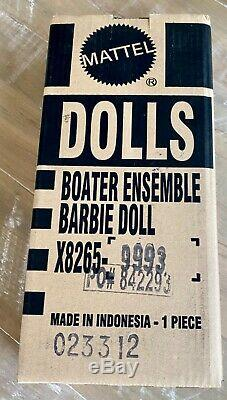 Boater Ensemble Silkstone Barbie NRFB in Shipper Limited to 5300