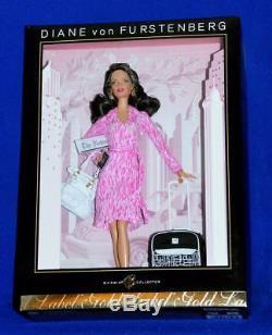 Diane Von Furstenberg Barbie Doll NRFB Designer Limited Edition 2006 Doll Tissue