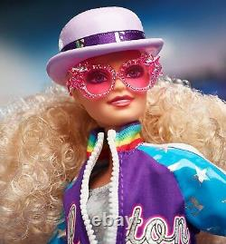 Elton John Barbie Doll Limited Edition Collector with Stand and Certificate WOW