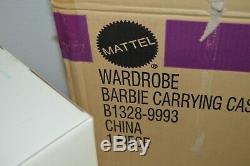 Limited Edition Silkstone Barbie Wardrobe Carrying Case B 1328 w Shipper 2002