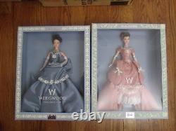 Lot of 2 Wedgwood Barbie Pink & Blue Limited Edition 1999-2001