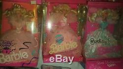 Lot of 32 Barbie birthday gown princess summit special limited box dmg