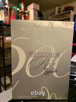Mattel- 2000 Millennium Bride Barbie-nrfb-limited To 10,000-has Shipper