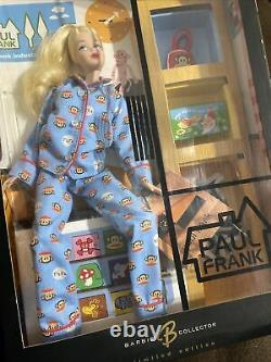 Mattel Paul Frank Barbie Doll Blue Pajamas Limited Edition B8954 NRFB12