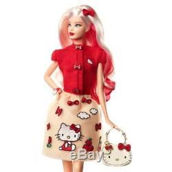 NEW Barbie Hello Kitty Mattel DWF58 Japan 1000 Limited Figure Doll F/S HGCD 398