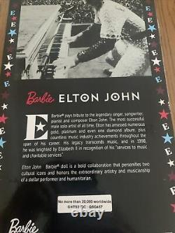 NEW Elton John Barbie Doll Limited Edition Collector with Stand SHIPS TODAY
