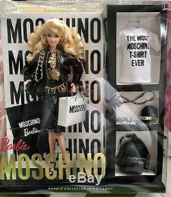NRFB Barbie Fashion Doll Moschino Blond 2015 Gold Label Limited