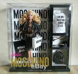NRFB Limited Edition Blonde Moschino Barbie from a smoke, pet, & child free home