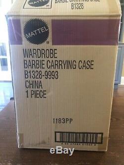 NRFB Limited Edition Silkstone Barbie Wardrobe Carrying Case B 1328 w Shipper