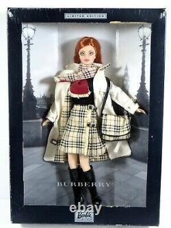 Nib Barbie Doll 2000 Burberry Limited Edition 29421