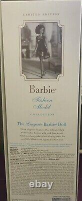 The Lingerie Fashion Model Silkstone Black Barbie Doll #56120 -Limited Edition