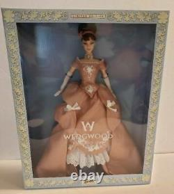 Wedgwood England 1759 Barbie Brown Hair Pink Gown NEW NIB Limited Edition 2000