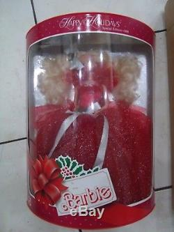 1988 Happy Holiday Barbie Limitée Ed Rare Withshipper Mint