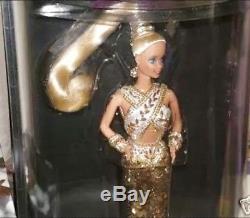 1990 Bob Mackie Gold Barbie Mib Édition Limitée