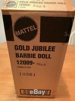 1994 Barbie Fao Lettre Schwarz Gold Jubilee Edition Limitée Boîte D'expédition