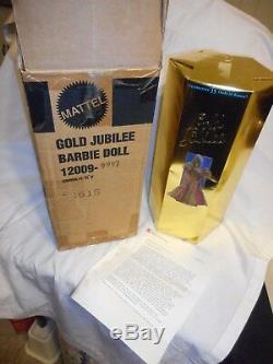 1994 Barbie Fao Lettre Schwarz Gold Jubilee Nrfb Edition Limitée Boîte D'expédition