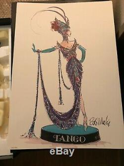 1998 Bob Mackie Le Tango Poupée Barbie Mattel Édition Limitée Porcelaine Utilisé