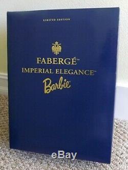 1998 Fabergé Imperial Elegance Porcelaine Poupée Barbie 19816 Limited Edition 9309