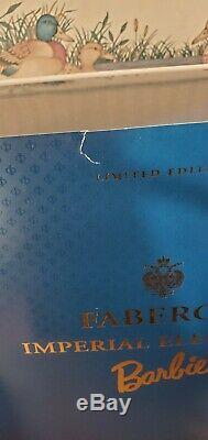 1998 Fabergé Imperial Elegance Porcelaine Poupée Barbie Limited Edition 06912 Nrfb