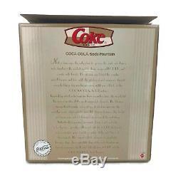 2000 Barbie Coca Cola Coke Soda Fountain Accessoire De Malt Shop Mattel Limited Ed