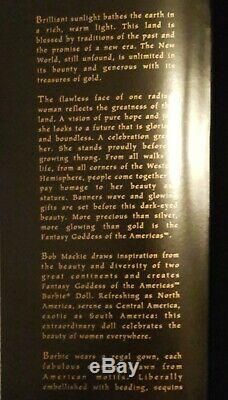 2000 Bob Mackie Fantasy Déesse Des Amériques Barbie # 25859 Limitée W Coa