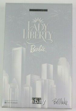 2000 Lady Liberty Barbie Par Bob Mackie Edition Limitée Fao Schwartz Doll