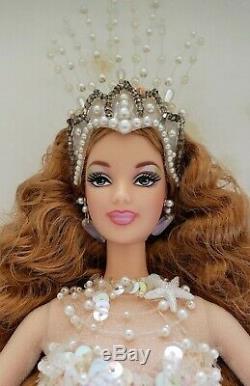 2001 Enchanted Sirène Limited Edition Barbie Doll Nouvelle Nrfb Coa Nouvelle Boîte Rare