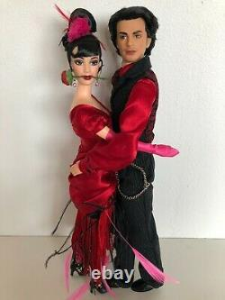 2002 Fao Schwarz Barbie Mattel Tango Barbie & Ken Doll Edition Limitée