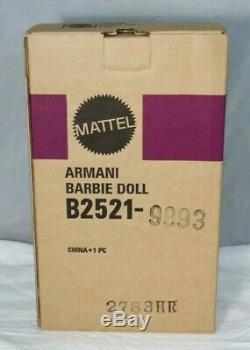 2003 Poupée De Collectionneur Barbie De Giorgio Armani, Édition Limitée Nrfb Dans Shipper Mint +