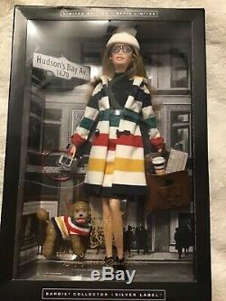 2016 Baie D'hudson Co. Silver Label Limited Edition Poupée Barbie Nib Rare