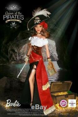 2017 Nrfb Barbie Bijou Reine Des Pirates Convention Espagnole Doll Limitée Ed