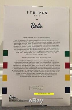 2020 La Baie D'hudson Barbie Signature Doll Hbc Stripes Limited Edition