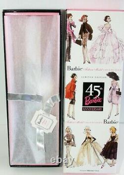 45e Anniversaire Blonde Silkstone Barbie #b8955 Nrfb Édition Limitée 2003