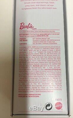 60e Sparkles Barbie Doll Rare 2019 Maillot De Bain Tout Neuf Dans La Boîte Edition Limitée