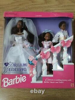 Aa Dream Wedding Barbie, Stacie Et Todd 10713 Édition Limitée 1993 Nrfb