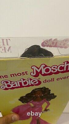 Barbie Aa Afro Moschino Le Met Platinum Étiquette Nrfb! Limitée Doll Expédition Rapide